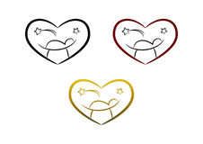 Het symbool van de geboorte van Christus (hart) royalty-vrije illustratie