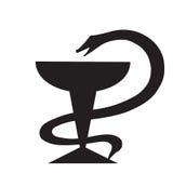 Het symbool van de geneeskundeslang Stock Afbeeldingen