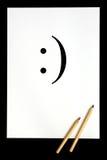 Het symbool van de glimlach Stock Foto