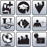 Het symbool van de graduatie. royalty-vrije illustratie