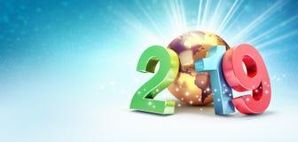 2019 het symbool van de Groetkaart voor succes vector illustratie