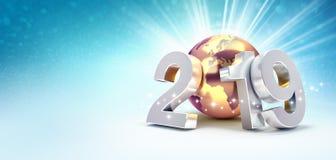 2019 het symbool van de Groetkaart voor succes stock illustratie