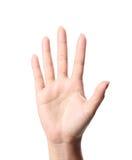 Het symbool van de hand Stock Fotografie