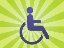 Het symbool van de handicap Stock Foto