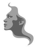 Het symbool van de het gezichtsmanier van het meisje Royalty-vrije Stock Afbeeldingen
