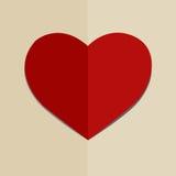 Het symbool van de het hartvorm van het document voor de dag van Valentijnskaarten royalty-vrije illustratie