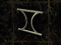 Het symbool van de horoscoop - Tweeling Stock Fotografie