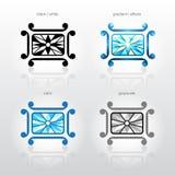Het symbool van de identiteit voor de bedrijven van de juwelenindustrie Royalty-vrije Stock Afbeeldingen