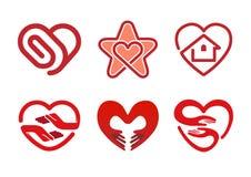 Het Symbool van het de Illustratieontwerp van het hartensymbool Royalty-vrije Stock Foto's