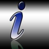 Het symbool van de informatie Stock Afbeelding