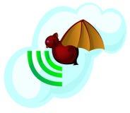 Het symbool van de knuppel en van het signaal Stock Fotografie