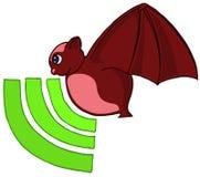 Het symbool van de knuppel en van het signaal - radar Royalty-vrije Stock Afbeelding