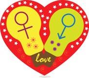 Het symbool van de liefde Stock Foto's