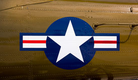 Het symbool van de luchtmacht op vechter Royalty-vrije Stock Foto