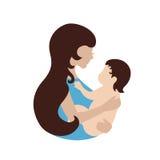 Het symbool van de moeder en van de baby Royalty-vrije Stock Afbeeldingen
