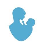 Het symbool van de moeder en van de baby Stock Fotografie