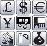 Het symbool van de munt en van financiën royalty-vrije illustratie