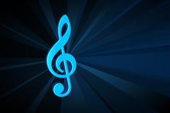 Het symbool van de muziek royalty-vrije illustratie