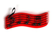 Het symbool van de muziek Stock Foto