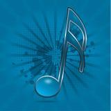 Het symbool van de muzieknoot Stock Afbeeldingen