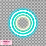 Het symbool van de neonflamingo Stock Afbeelding