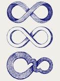 Het symbool van de oneindigheid vector illustratie