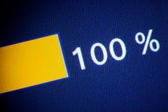 het symbool van de 100 percentenkorting Stock Afbeeldingen