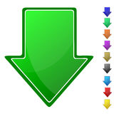 Het symbool van de pijl Stock Foto's