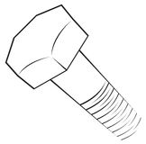 Het symbool van de schroef Royalty-vrije Stock Foto's
