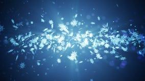 Het symbool van de Shinningswinter met schoonheidssneeuwvlokken Draaikolk van rotatiesneeuw De winterpatroon Schoonheids dansende stock illustratie