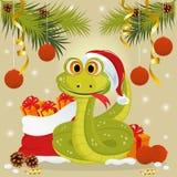 Het symbool van de slang van het jaar van 2013 Royalty-vrije Stock Afbeelding