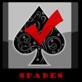 Het Symbool van de spadeskaart Stock Foto's