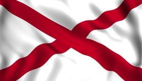 Het symbool van de staat van de V.S. van de staat van vlagalabama stock illustratie