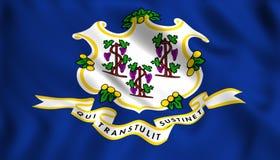 Het symbool van de staat van de V.S. van de vlaggenstaat van Connecticut stock illustratie