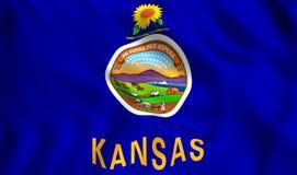 Het symbool van de staat van de V.S. van de staat van vlagkansas royalty-vrije illustratie