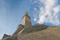 Het Symbool van de stadsitalië van Lightouselanterna Genua royalty-vrije stock afbeelding