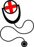 Het symbool van de stethoscoop Stock Afbeeldingen