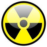 Het symbool van de straling Stock Fotografie