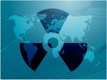 Het symbool van de straling Stock Foto