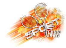 Het symbool van de tenniskop Stock Foto's