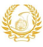 Het symbool van de trombone Stock Fotografie