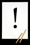 Het symbool van de uitroep stock fotografie