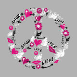 Het symbool van de vrede en van de liefde Stock Afbeelding