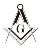 Het symbool van de vrijmetselaar Royalty-vrije Stock Foto
