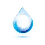 Het symbool van de waterdaling Stock Foto