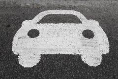 Het Symbool van de Weg van de auto Royalty-vrije Stock Foto's