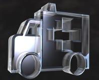 Het symbool van de ziekenwagen in 3d glas - Stock Foto
