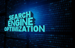 Het symbool van de zoekmachineoptimalisering Stock Afbeeldingen