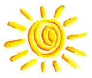Het symbool van de zon Royalty-vrije Stock Foto