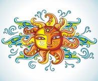 Het symbool van de zon Stock Afbeelding